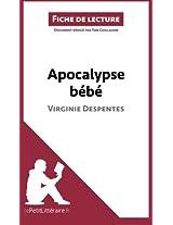 Apocalypse bébé de Virginie Despentes (Fiche de lecture): Résumé Complet Et Analyse Détaillée De L'oeuvre
