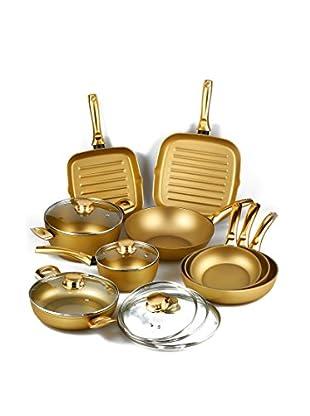 Stonegold Topf- und Pfannen-Set, 9 tlg. gold