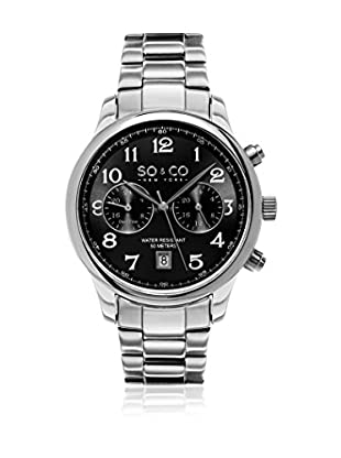 SO & CO New York Reloj de cuarzo So&Co New York Gp15454 Monticello Dress Plateado 41  mm