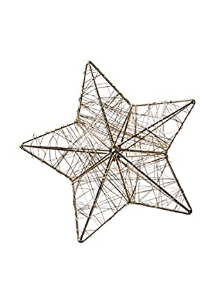 Wired Star Ornament, Silver