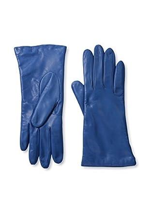 Portolano Women's Cashmere Lined Leather Gloves (Lustrous Blue)