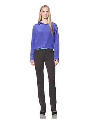 Christopher Blue Women's Goodwin Bootcut Trousers (Charred Dark Grey)