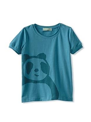 Zolima Panda Girl's T-Shirt (Mediterranean Blue)