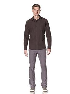 Comune Men's Judd Oxford Gingham Shirt (Coffee)