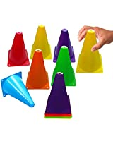 Toy Cubby Colorful Flexible Plastic Activity Play Traffic Cones Set - 24 Pcs