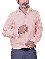 Mc-John Men's Slim Fit Formal Shirt (Pink_Medium)