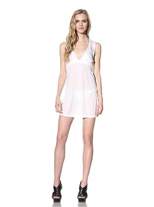 Just Cavalli Women's V-Neck Beach Dress (White)