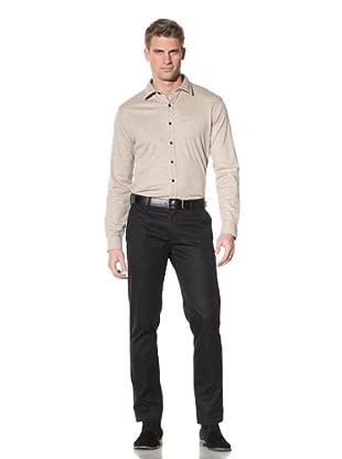 Robert Barakett Men's Georgia Heathered Shirt (Desert)