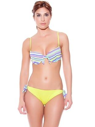 Teleno Bikini Con Aro Y Foam (Verde)