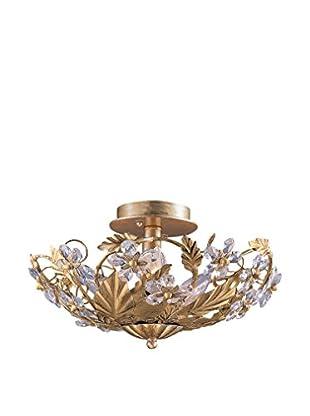 Gold Coast Lighting Abbie 6-Light Gold Semi-Flush, Gold Leaf