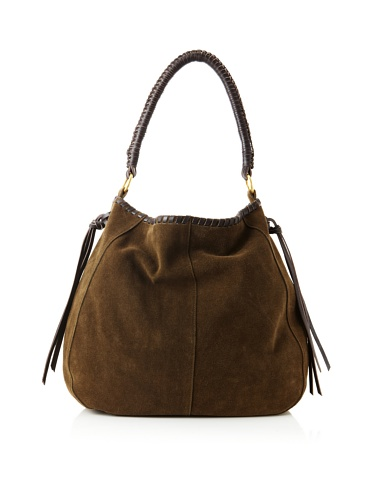 Linea Pelle Women's Willow Native Shoulder Bag (Dark Olive)