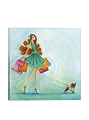 Bella Pilar Shop Blue Canvas Print