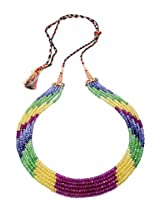 Pearls Cart Five Strings Real Multi Colour Shaded Cubic Zirconia Mala From Hyderabad - Pcn1081