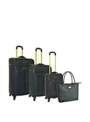 Adrienne Vittadini Stingray 4-Pc Luggage Set, Black