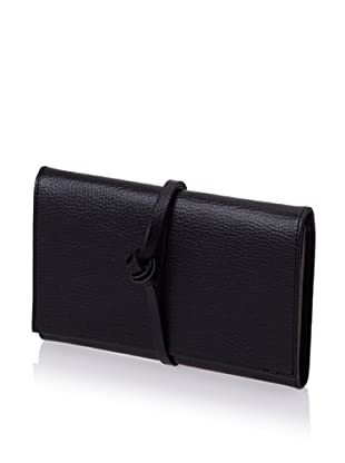 Morelle & Co. Audrey Leather Envelope Jewelry Roll (Black)