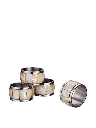 Godinger Set of 4 Mother Of Pearl Napkin Rings