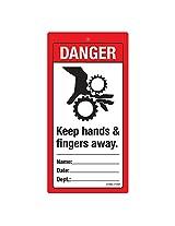DANGER: Keep Hands & Fingers Away, (ST966-714NT-01), Material: NT Polystyrene Polystyrene