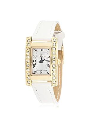 Via Nova Women's NWL308522G-WT-Z White/Silver Leather Watch