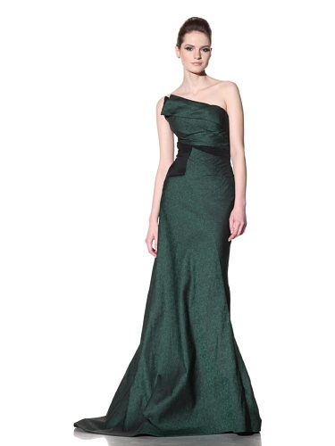 Bibhu Mohapatra Women's Lux Aeterna Gown (Emerald)