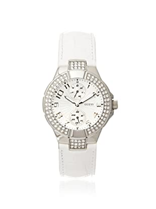 GUESS Women's W11607L1 Prism White Stainless Steel Watch