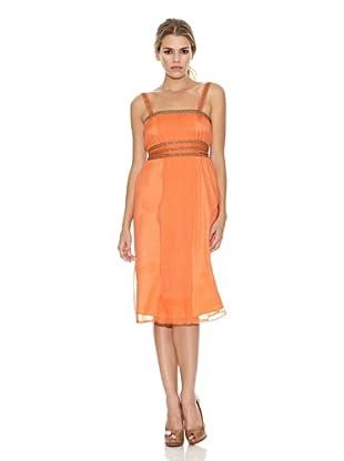 Monoplaza Vestido Plisé (Naranja)