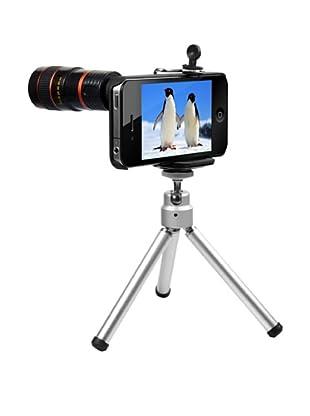Unotec Tripode con Obiettivo Zoom 8X Compatibile con Iphone4/4S