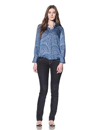 Robert Graham Women's Bailey Shirt (Blue)