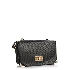 Lara Karen Black Slim Shoulder Bag