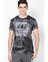 Black Skateboarding Round Neck T-Shirt