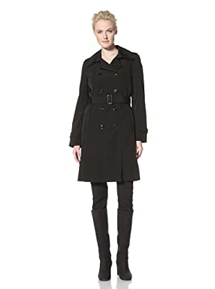 Calvin Klein Women's Double-Breasted Trench (Black)