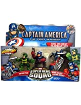 Superhero Squad Captain America The First Avenger 3Pack Raid on Enemy Headquarters