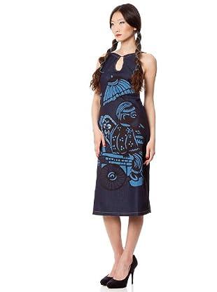 Custo Barcelona Kleid Celled (Blau)