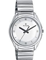 Titan Analog White Dial Men's Watch - NE1578SM01