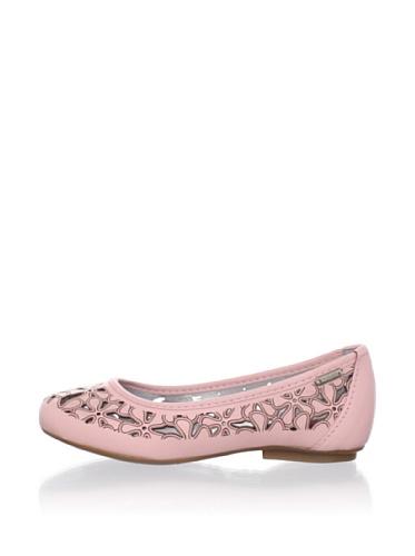 Pampili Cecilia II Cutout Ballet Flat (Rose Glace)
