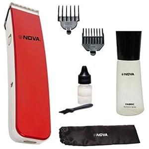 Nova NHT-1045 Cordless Trimmer For Men (Red)
