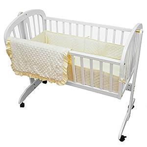 American Baby Company Heavenly Soft Minky Dot 3-Piece Cradle Bedding Set, Ecru
