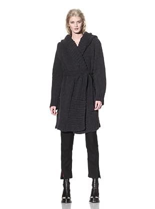 Ann Demeulemeester Women's Long Hooded Cardigan (Black)