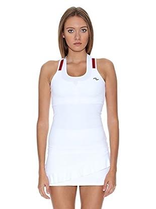 Naffta Camiseta Tenis / Padel (Blanco / Rojo)