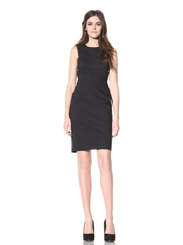 Andrew Marc Collection Women's Sweetheart Dress with Cut-Out Back (Black)