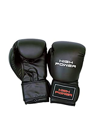High Muster Guanti da Boxe 10 oz Nero