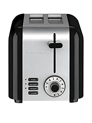 Cuisinart Compact 2-Slice Toaster, Brushed Stainless Steel