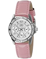Gio Collection Analog White Dial Women's Watch - G0062-02