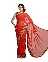 Aarohii Georgette Saree (#101Egeka _Maroon)