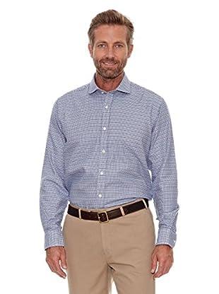 Cortefiel Camisa Pata de Gallo (Azul)