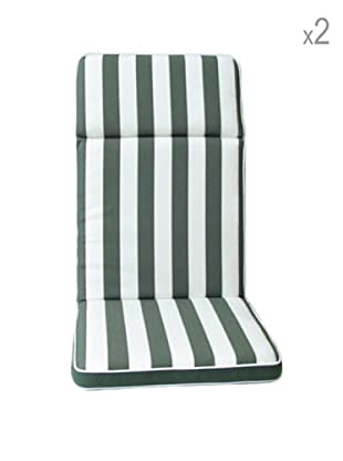 Arredamenti Italia Set, 2-teilig Sitzkissen weiß