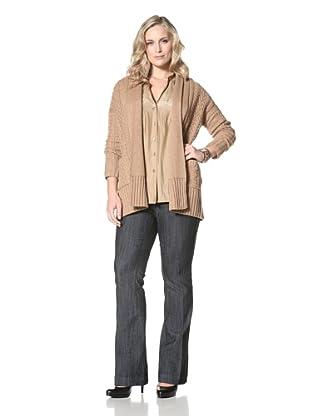 Cullen Women's Oversize Cable Sweater (Caramel)