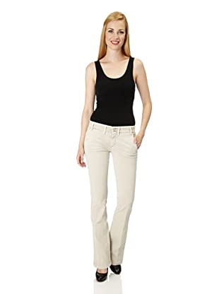 7 for all Mankind Jeans Ashly Drill Super Stretch Flare Leg (Beige)