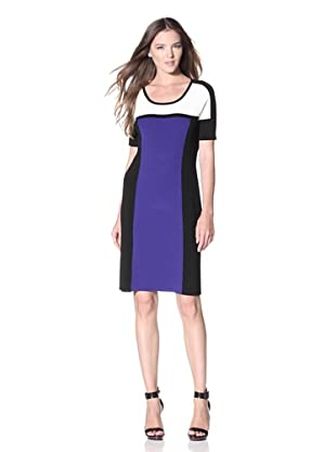 Calvin Klein Women's Colorblock Sweater Dress (Byzantine)