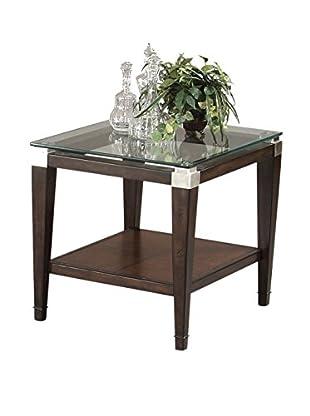 Bassett Mirror Company Dunhill Rectangle End Table, Cappuccino