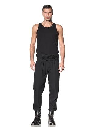 Ann Demeulemeester Men's Cinched Waist Pant (Black)